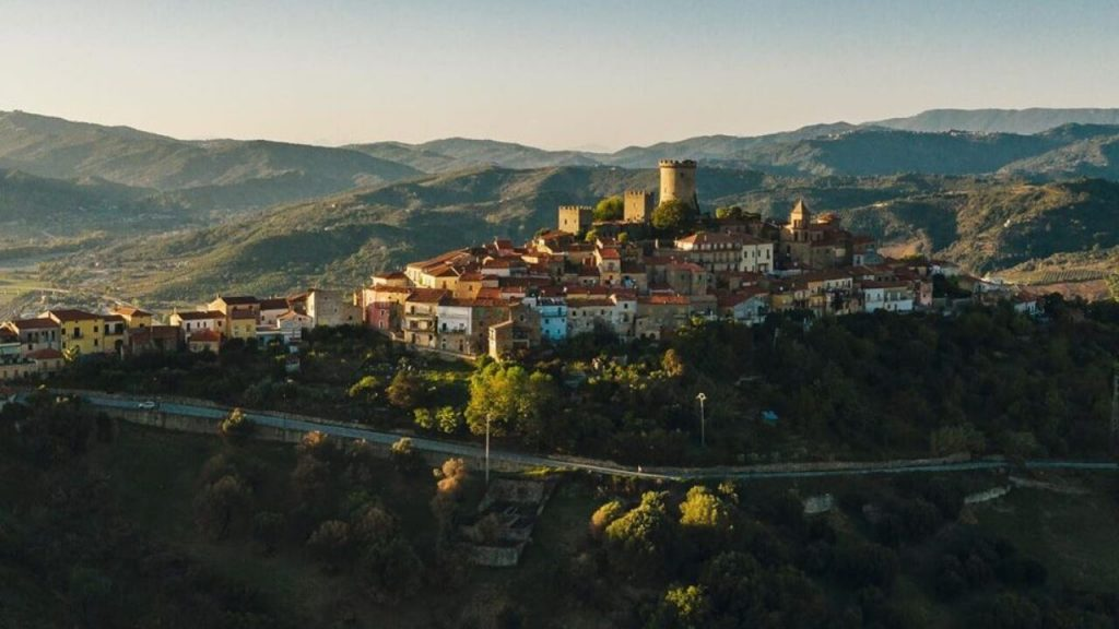 Vista sul borgo di Castelnuovo Cilento